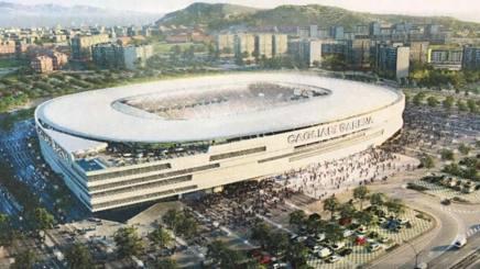 Il progetto del nuovo stadio del Cagliari