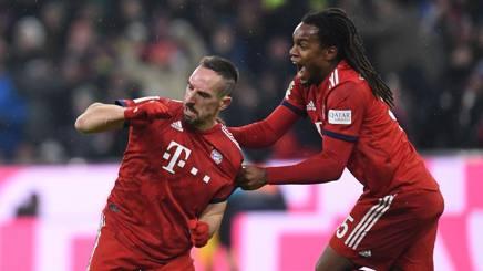 L'esultanza di Ribery e Sanches. Afp