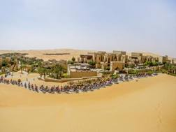 Le dune rosse dell'AbuDhabi Tour. Bettini