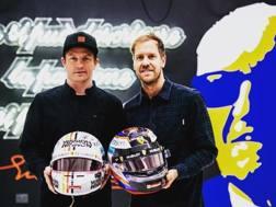Kimi Raikkonen, 39 anni, iridato 2007  e Sebastian Vettel , 31 anni,  4 volte iridato