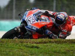 Andrea Dovizioso sulla sua Ducati - AFP