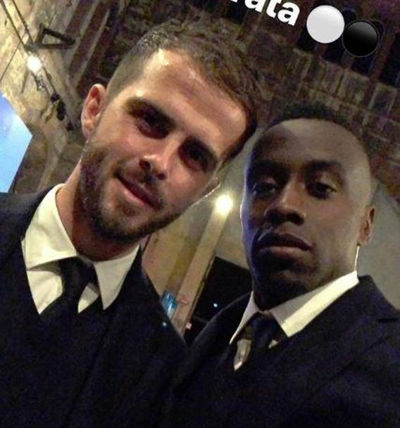 Pjanic con Matuidi. Getty