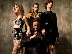 Vittoria De Angelis (Vicky, basso), Ethan Torchio (batteria), Damiano David (voce), Thomas Raggi (chitarra)