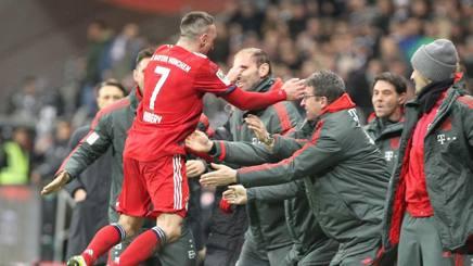 L'esultanza di Franck Ribery. Epa