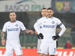 La perplessità dei giocatori dell'Inter. Ansa