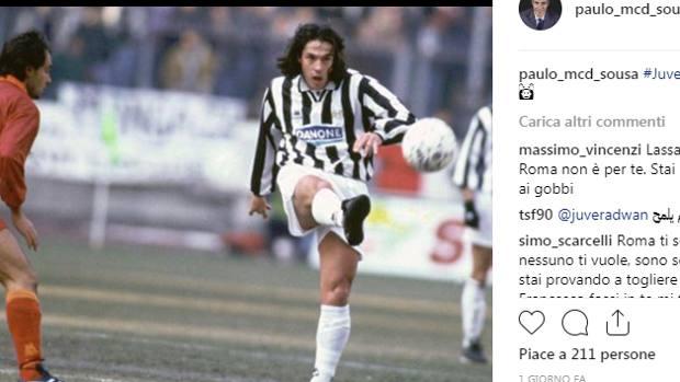 La foto postata da Paulo Sousa sul suo profilo Instagram.