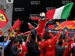 Sebastian Vettel carica la Ferrari per il 2019. Getty