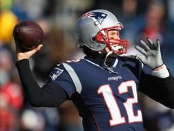 Tom Brady, quarterback dei New England Patriots. Afp