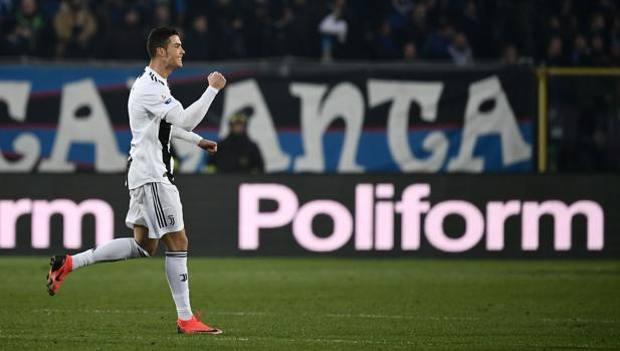 L'esultanza di Ronaldo. Afp