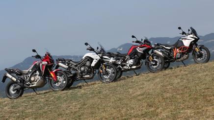 Honda Africa Twin, Triumph Tiger 800 XCa, Bmw F 850 GS e Ktm 190 Adventure R