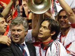 Carlo Ancelotti (59) e Filippo Inzaghi (45) e la Champions 2003