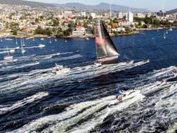 L'arrivo di Wild Oats XI a Hobart. Afp