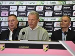 David Platt, Maurizio Zamparini e Clive Richardson. Getty