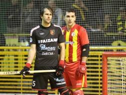 Claudio Cacau (a sinistra) capocannoniere, gioca nel Sandrigo