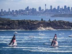 La partenza della Sydney-Hobart. Ap
