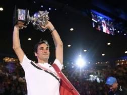 Roger Federer re a Melbourne nel 2018. Ap