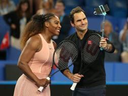 Roger Federer, 37 anni, svizzero, 20 Slam vinti, e Serena Williams, coetanea americana, 23 Slam in carriera. Getty