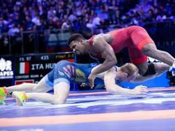 Abraham Conyedo durante la finale per il terzo posto ai Mondiali di Budapest