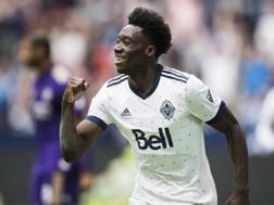 Alphonso Davies, 18 anni, canadese di origini liberiane. Il Bayern Monaco lo ha pagato 18 milioni, bonus esclusi. AP