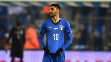 Vincenzo Grifo, 25 anni, con la maglia della Nazionale. Getty