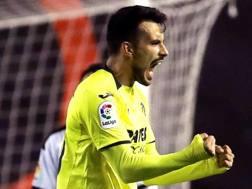 Nicolla Sansone con la maglia del Villarreal. Epa