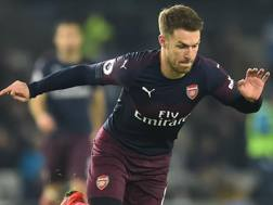 Aaron Ramsey, 28 anni, centrocampista gallese dell'Arsenal AFP