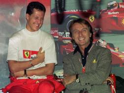 Michael Schumacher e Luca Cordero di Montezemolo. Epa