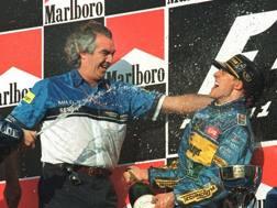 Briatore e Schumacher nell'ottobre 1995. Afp