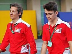 Academy Ferrari: Massimo Rivola, 47 anni, ex direttore della scuola piloti e Charles Leclerc.