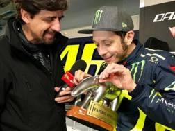 Valentino Rossi riceve il Tapiro d'oro
