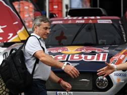 Carlos Sainz, vincitore della Dakar 2018 nelle auto. Afp