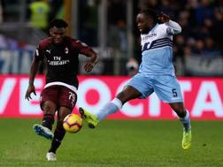 Franck Kessie e Jordan Lukaku in Lazio-Milan. Getty