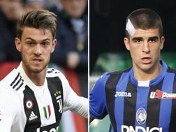 Daniele Rugani, difensore della Juventus, e Gianluca Mancini, difensore dell'Atalanta. GETTY-LAPRESSE