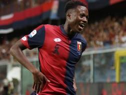 Christian Kouame, attaccante del Genoa. Lapresse