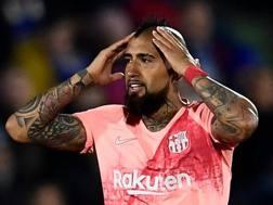 Arturo Vidal, 31 anni, centrocampista ex Juve in forza al Barcellona. Afp