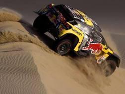Sebastien Loeb in azione alla Dakar. Afp