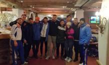 Foto di gruppo a Mittersil per gli azzurri dei gruppi sportivi Fiamme Azzurre, Fiamme oro e Fiamme Gialle