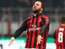 Gonzalo Higuain, 31 anni, attaccante argentino del Milan. Getty