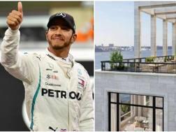 Leiws Hamilton, cinque volte campione del mondo di F1 e uno scatto della nuova lussuosa dimora di Manhattan