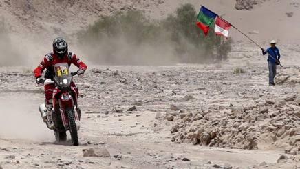 Ricky Brabec in azione alla Dakar. Ap