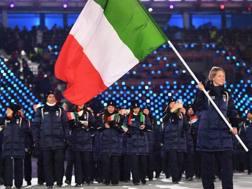 Arianna Fontana e gli azzurri a PyeongChang 2018. Getty