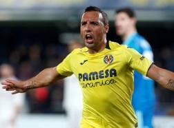 Santi Cazorla esulta dopo aver segnato contro il Real. Ansa