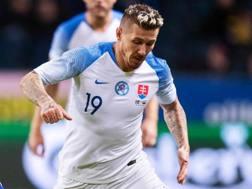 Juraj Kucka, 31 anni, con la maglia della nazionale slovacca. Afp