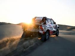 La Toyota di Nasser Al-Attiyah. Afp