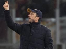 Eusebio Di Francesco, 49 anni, allenatore della Roma. Ansa
