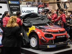 Ogier e Lappi scoprono la Citroen C3 Wrc per il mondiale 2019. Afp