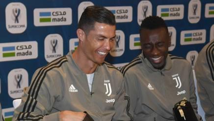 Cristiano Ronaldo, 33 anni, 15 gol in questa stagione, a Gedda assieme a Blaise Matuidi, 31