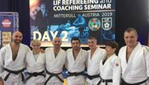 Da sinistra Lorenzo Bagnoli, Roberta Chyurlia, Gianfranco Minissale, Giuseppe Maddaloni, Guerrino De Patre, Laura Di Toma, Guy Ruelle