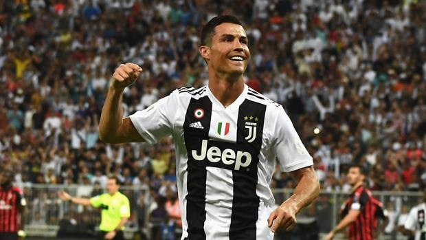 Cristiano Ronaldo esulta dopo l'1-0. Getty