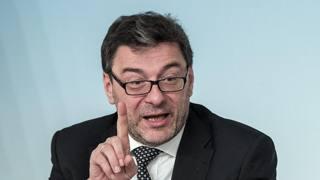 Giancarlo Giorgetti, 52 anni, Sottosegretario alla Presidenza del Consiglio con delega allo sport.. LAPRESSE